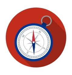Compass icon in flat style isolated on white vector image vector image