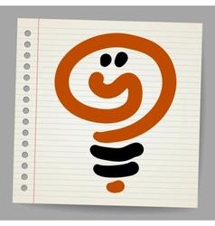 Idea light bulb doodle vector image vector image