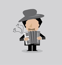 Musician Accordion Man vector image