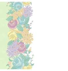 Seamless Floral Border with wildflowers vector image vector image