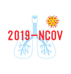 2019 ncov poster medical banner with human lungs vector image