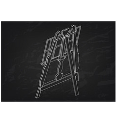 3d model of easel on a black vector image