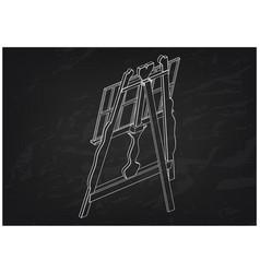 3d model of easel on a black vector