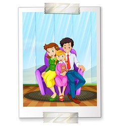 A family picture vector image
