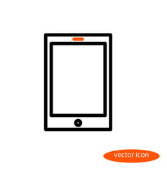 a simple linear image of an electronic book vector image