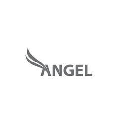 Angel logo template vector