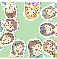 avatars people women vector image