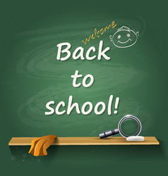 back to school - card or background vector image