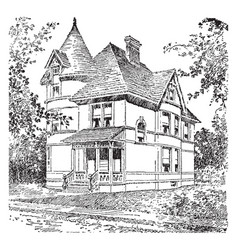 badenoch large chimney protrudes vintage vector image