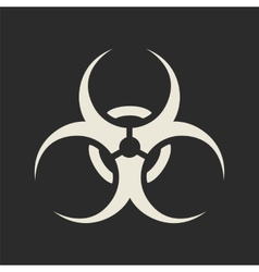 Biohazard symbol icon vector