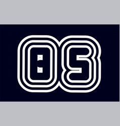 Black and white alphabet letter combination bs b vector