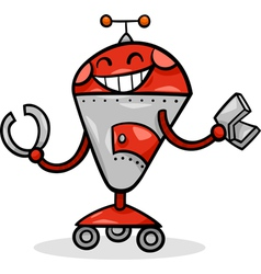 Cartoon robot or droid vector