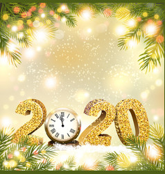 christmas and happy new year holiday 2020 vector image