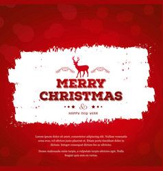 christmas greetings card with red background red vector image