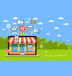 concept online shop vector image