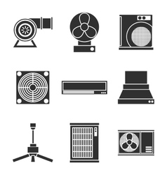 conditioning system icons set vector image
