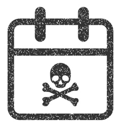 Deadline Day Grainy Texture Icon vector