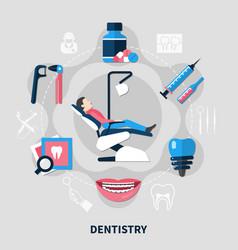 dentistry flat design concept vector image