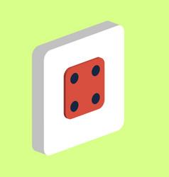 Dice cube computer symbol vector