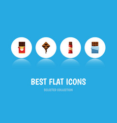 flat icon sweet set of delicious bitter vector image