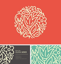 Flower Branding vector image