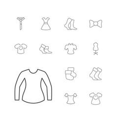 Garment icons vector