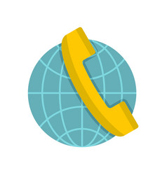 Global communication icon flat style vector