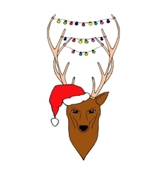 Hand Drawn of Christmas deer vector