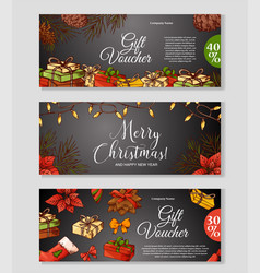hand written christmas greeting holiday card in vector image