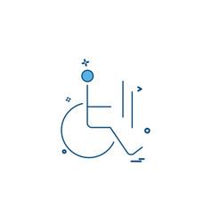 handicap icon design vector image