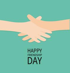 Happy friendship day handshake icon hands arms vector
