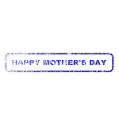 Happy mother s day rubber stamp vector