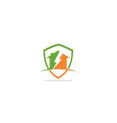home energy bolt logo vector image