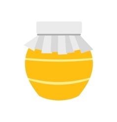 Honey jar with cover icon vector