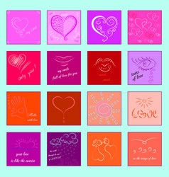 icons for valentines day vector image
