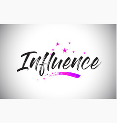 Influence handwritten word font with vibrant vector