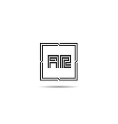 initial letter ar logo template design vector image