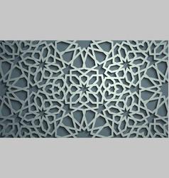 Islamic ornament persian motiff 3d vector