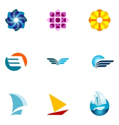 logo design elements set 36 vector image vector image