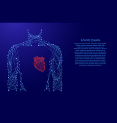 man torso heart in breast medicine health from vector image