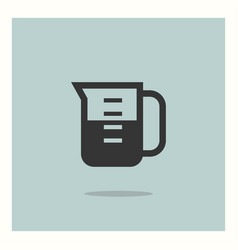 measuring cup icon simple vector image