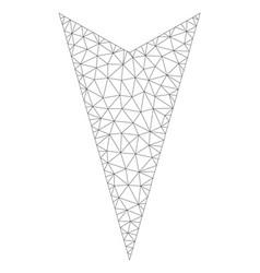 mesh arrowhead down icon vector image