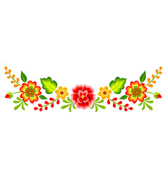 Mexican floral pattern vector