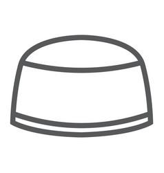 muslim cap line icon arabic and islam turkish vector image