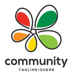 Non profit community logo vector
