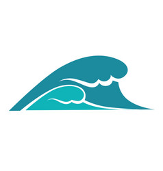 ocean or sea wave water splashes or storm vector image