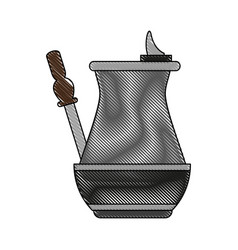 Old cofffee maker vector