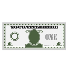 one money bill vector image