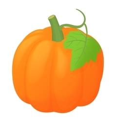 Orange pumpkin icon cartoon style vector image