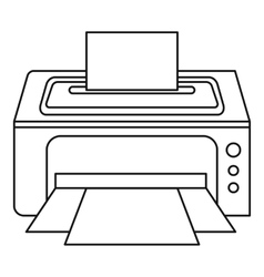 Photo printer icon outline style vector